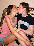 Wonderful teenaged couple is having great bonking on camera